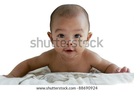 Portrait of an infant baby