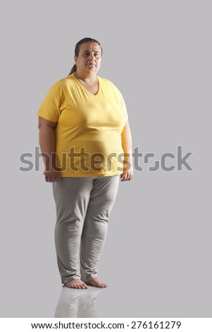 Portrait of an obese woman