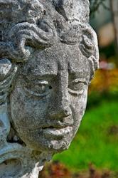 portrait of ancient woman statue