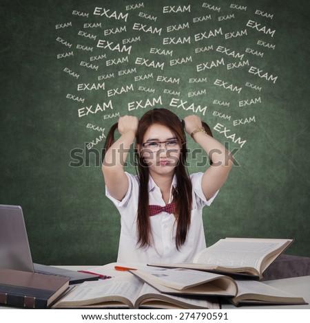 Girls exam