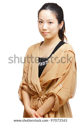 portrait of asian woman - stock photo