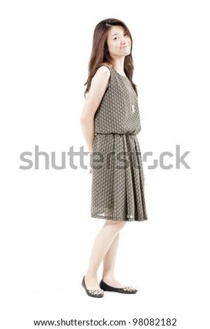 Portrait of asian woman - stock photo