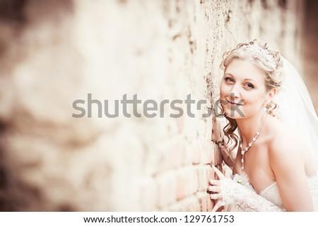 Portrait of attractive bride