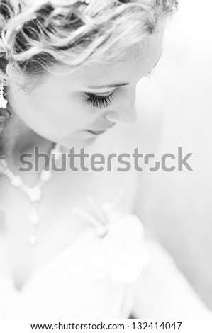 Portrait of attractive bride #132414047