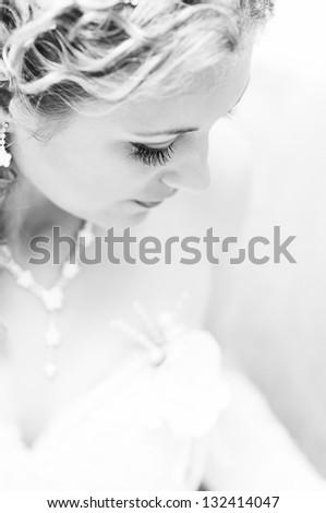 Portrait of attractive bride #132414047
