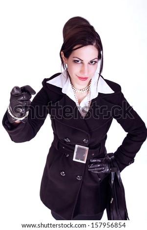 portrait of attractive businesswoman