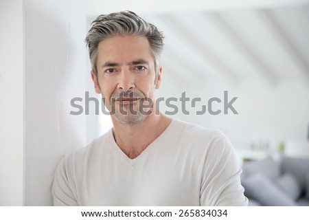 Portrait of attractive 50-year-old man #265834034