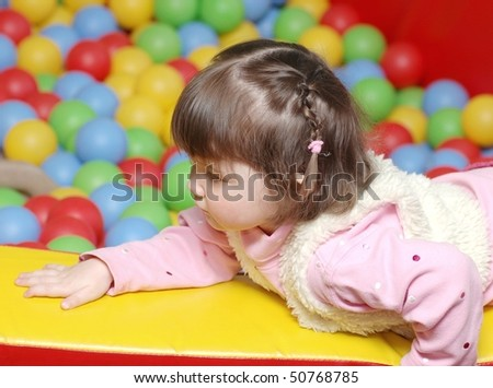 Portrait of baby in playroom