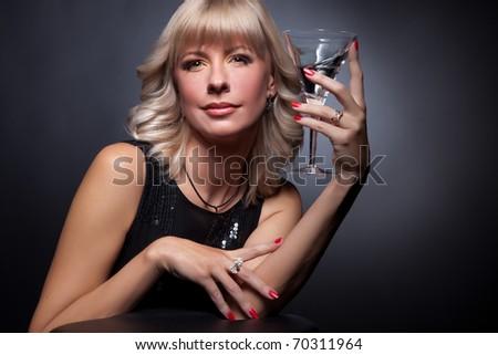 Portrait of beautiful adult woman. Studio shot