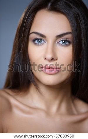 Portrait of beautiful and sexy young woman