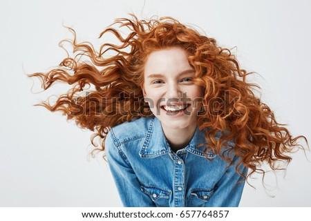 portrait of beautiful cheerful...