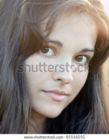 Portrait of beautiful cute young girl