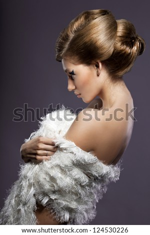 portrait of beautiful fashionable woman