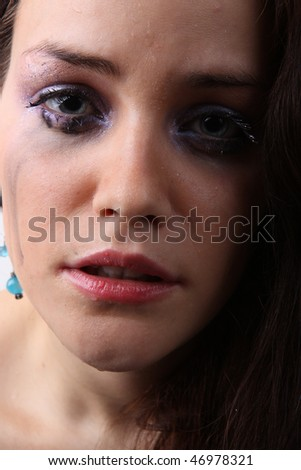 crying beautiful girl