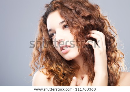 Portrait of beautiful girl - healthy skin