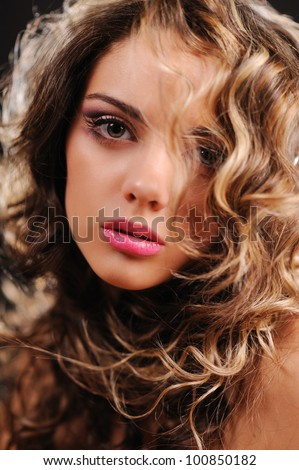 Portrait of beautiful girl. Picture with shallow DOF
