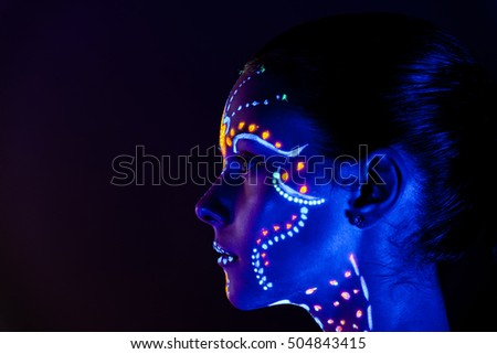 portrait of beautiful girl with ...