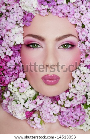 fancy makeup. girl with fancy makeup and