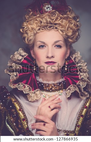 Portrait of beautiful haughty queen