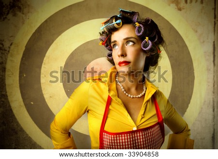 portrait of beautiful housewife