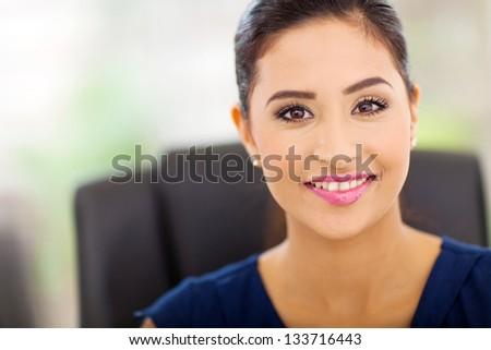 portrait of beautiful indian businesswoman close up