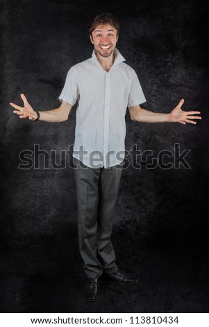 Portrait of beautiful man - stock photo