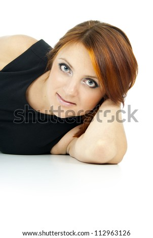 portrait of beautiful red-haired girl