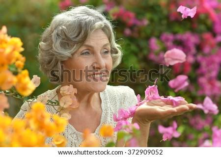 Portrait of beautiful senior woman #372909052