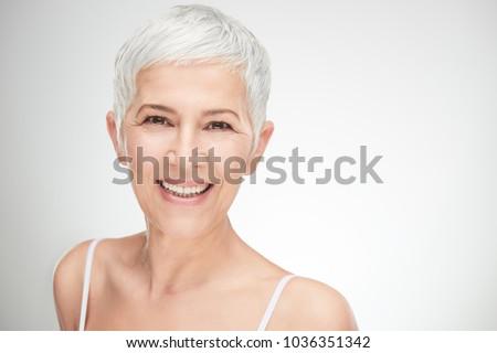 portrait of beautiful senior...