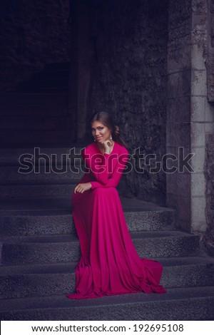 portrait of beautiful woman in...