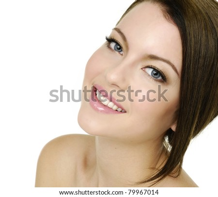 Portrait of beautiful woman looking at camera