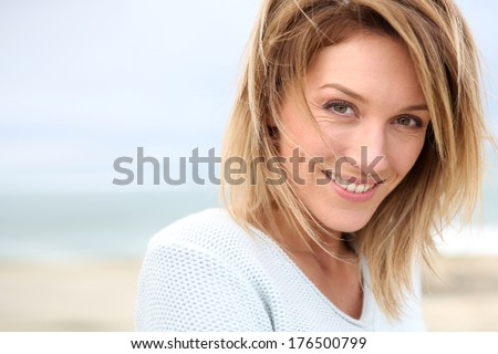 Portrait of beautiful 40-year-old blond woman #176500799