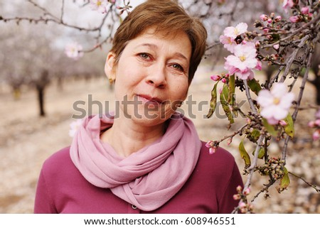 Portrait of beautiful 45 years old woman