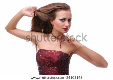 Elegant Removing Dress Related Keywords Amp Suggestions  Lady Removing Dress