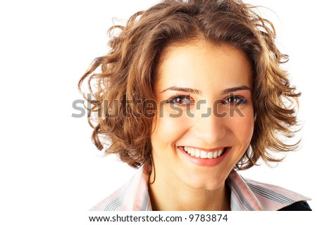 Portrait of beautiful young woman smiling