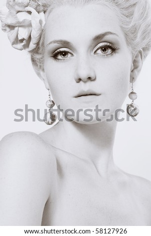 There are so many possible hairstyles stock photo : Portrait of beautiful