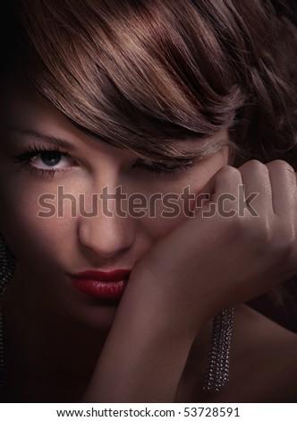 Portrait of beautiful young women - close up