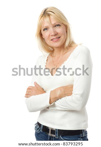 Portrait of beauty mature woman waring causal dress