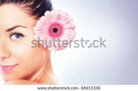 Portrait of beauty women, space for your text