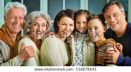 Portrait of big family #516878641