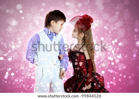 Girl Dressed up as a Boy Portrait of Boy And Girl All
