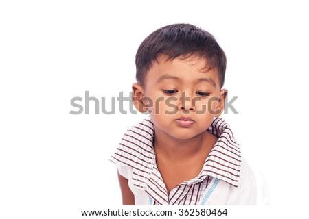portrait of boy  sad #362580464