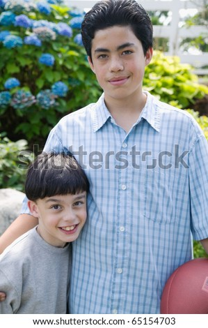 Portrait of brothers