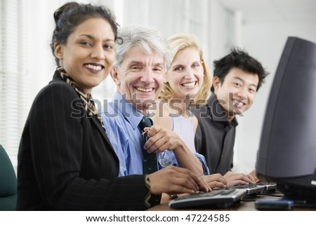 Portrait of business executives. - stock photo
