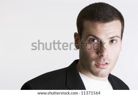 portrait of business man with plenty of copy