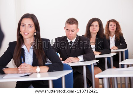 Portrait Of Business People At A Business School