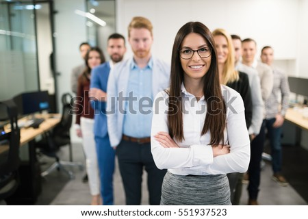 Portrait of business woman in offices representing company #551937523