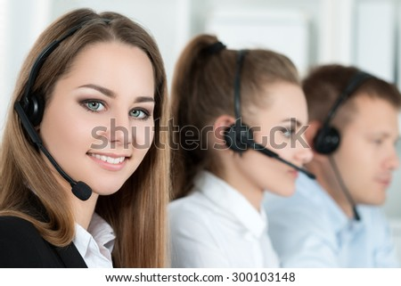 Free Photos Confident Business People Talking On Headset In