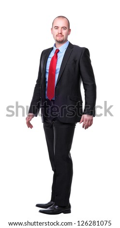 portrait of caucasian man isolated on white background