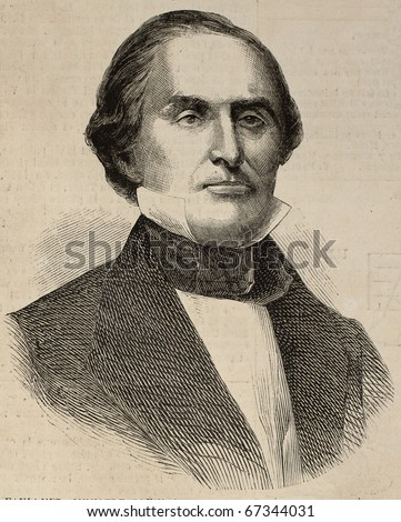 Portrait of Charles James Faulkner, United States Minister Plenipotentiary to France. Original, from drawing of Hofer, after photo of Brady, published on L'Illustration, Journal Universel, Paris, 1860